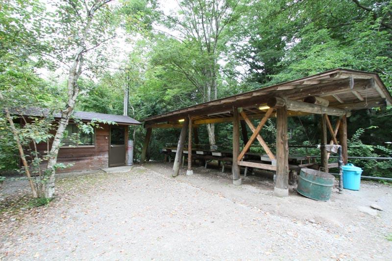 オートキャンプ場「赤倉の森」炊事場