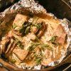 【キャンプ飯】ダッチオーブンで牛肉香草焼きをやってみました。