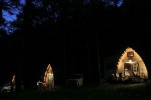 ペットも泊まれる森の小さなリゾート村 桜清水コテージ(夜景)