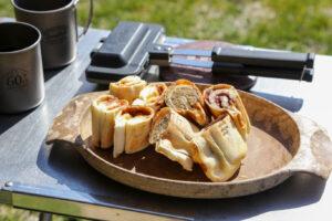 【キャンプ飯】ランチパックでさらに簡単_4w1hホットサンドソロで作るホットサンド_vol3